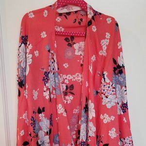 Girls Floral Kimono Summer Cover Up